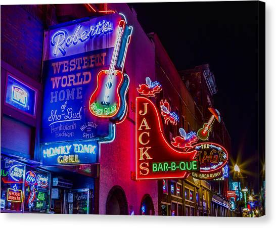 Taylor Swift Canvas Print - Honky Tonk Broadway by Stephen Stookey