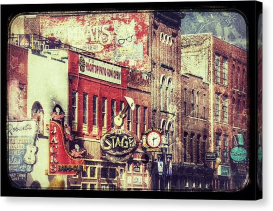Honky Tonk Row - Nashville Canvas Print