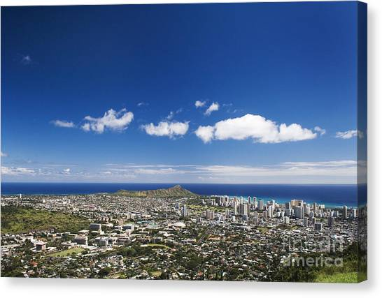 University Of Hawaii Canvas Print - Honolulu by Greg Vaughn - Printscapes