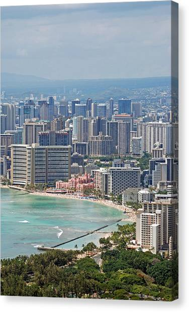 Honolulu Hawaii  Canvas Print