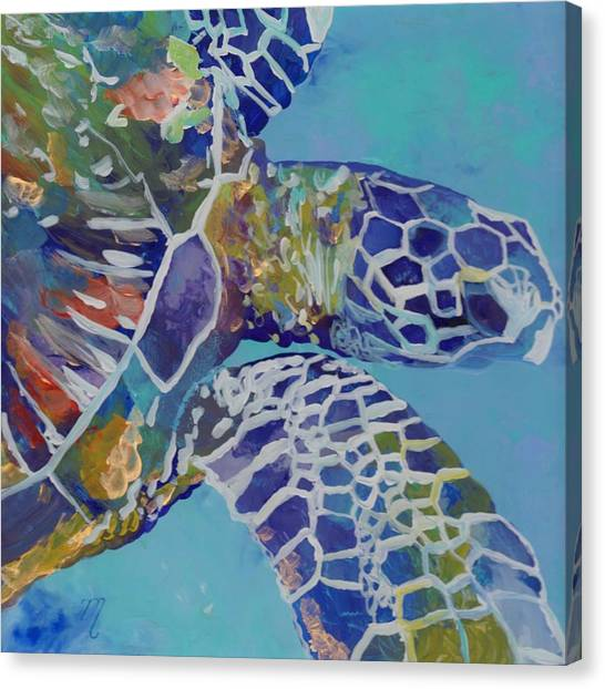 Sea Life Canvas Print - Honu by Marionette Taboniar