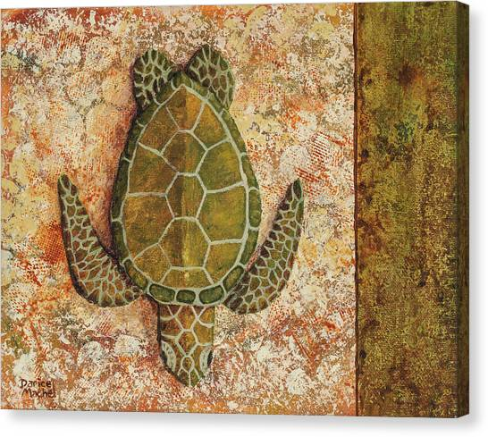 Canvas Print featuring the painting Honu Maui 2 by Darice Machel McGuire