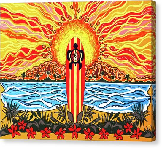Honu Surf Canvas Print