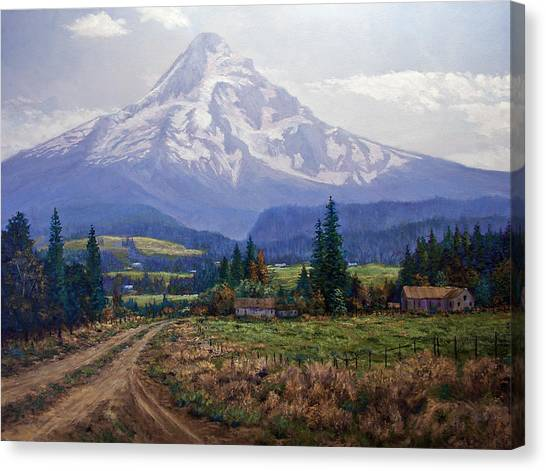 Hood River Valley Canvas Print by Donald Neff