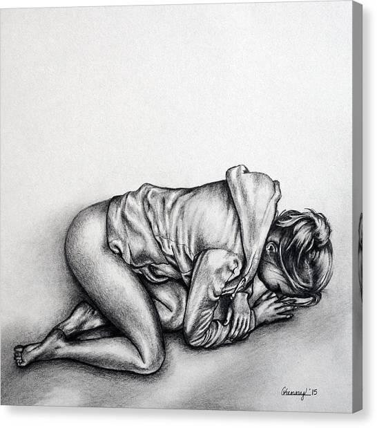 Hoodie Canvas Print - Hoodie by Courtney Kenny Porto