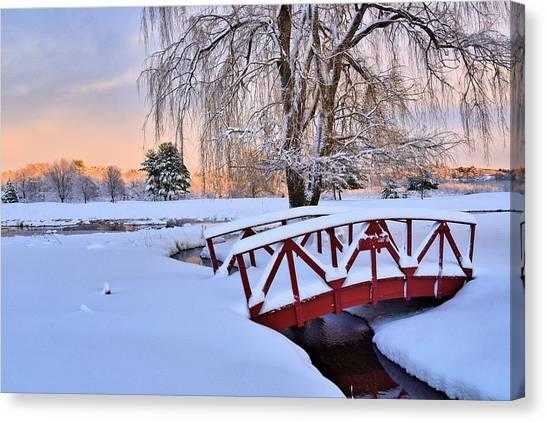 Hoodkroft Winter2 Canvas Print by John Sweeney