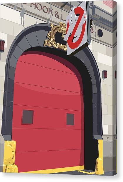 Ghostbusters Canvas Print - Hook And Ladder No. 8 by Kurt Ramschissel