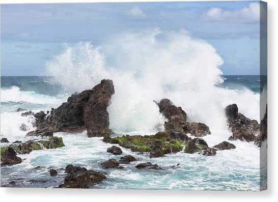 Hookipa Point Canvas Print