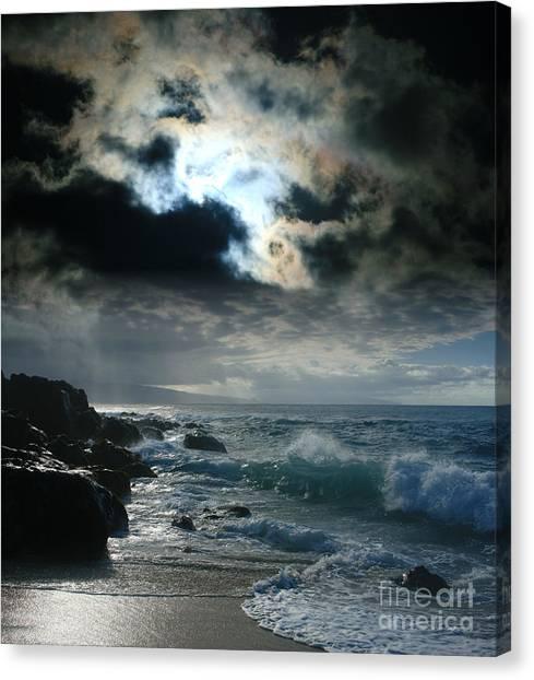 Hookipa Waiola  O Ka Lewa I Luna Ua Paaia He Lani Maui Hawaii  Canvas Print