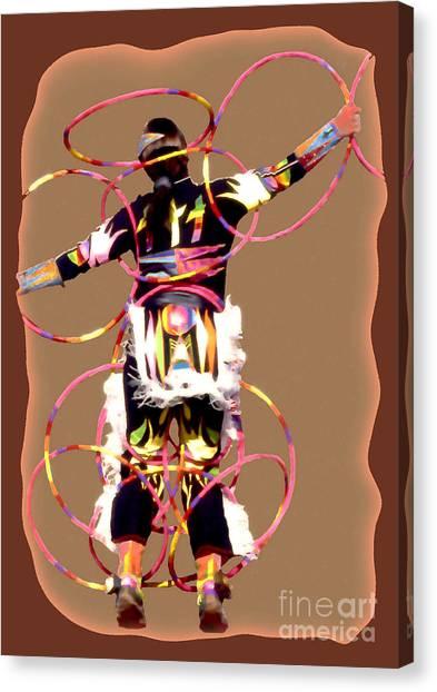 Hoop Dancer 2 Canvas Print by Linda  Parker