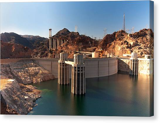 Hoover Dam Canvas Print by Melody Watson