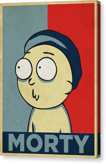 Canvas Print featuring the digital art Hope For Morty by Rick And Morty