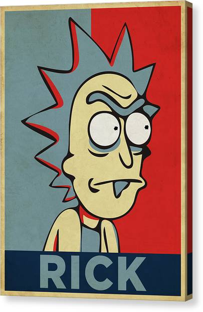 Canvas Print featuring the digital art Hope For Rick by Rick And Morty