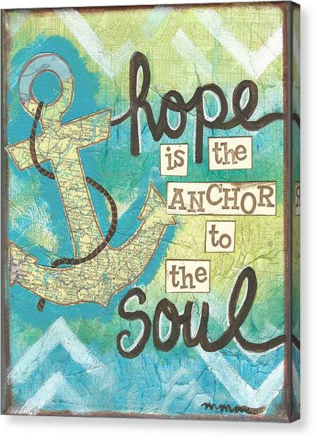 Hope Is The Anchor Canvas Print