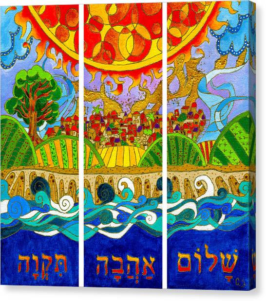Hope Love Peace Canvas Print