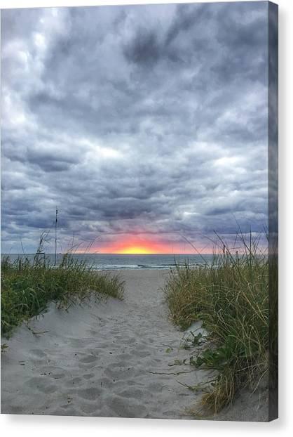 Hope On The Horizon Delray Beach Florida  Canvas Print
