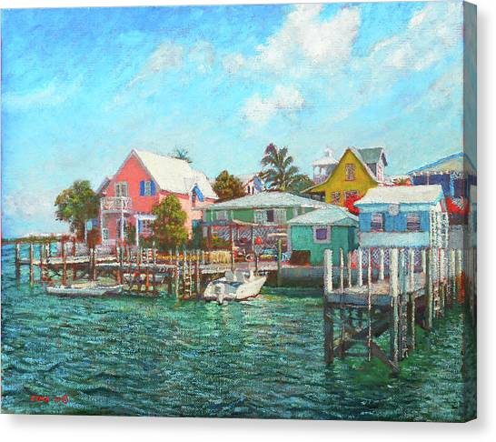 Hope Town By The Sea Canvas Print