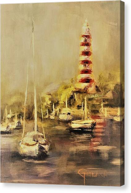 Hope Town Harbor Vintage Canvas Print