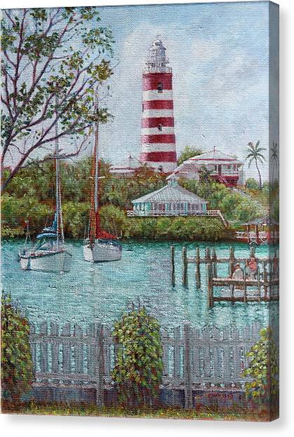 Hope Town Lighthouse Canvas Print