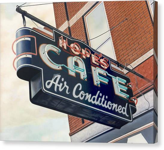 Hope's Cafe Canvas Print by Van Cordle
