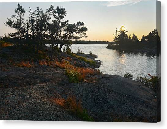 Hopewell Bay Island Rock Grass Canvas Print