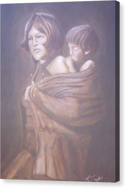 Hopi Mother Canvas Print by KC Knight