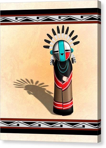Hopi Sun Face Kachina Canvas Print