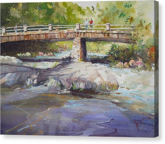 Hopper Bridge Creek Canvas Print