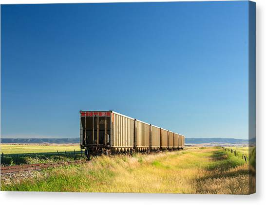 Freight Trains Canvas Print - Hopper Row by Todd Klassy