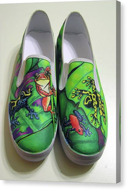 Hoppy Shoes Canvas Print