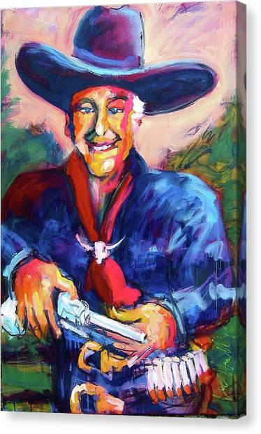 Hoppy's Got A Gun Canvas Print