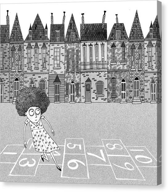 Hops Canvas Print - Hopscotch  by Andrew Hitchen