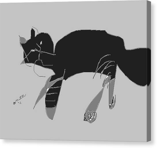 Horatio Tobias Greyscale Canvas Print