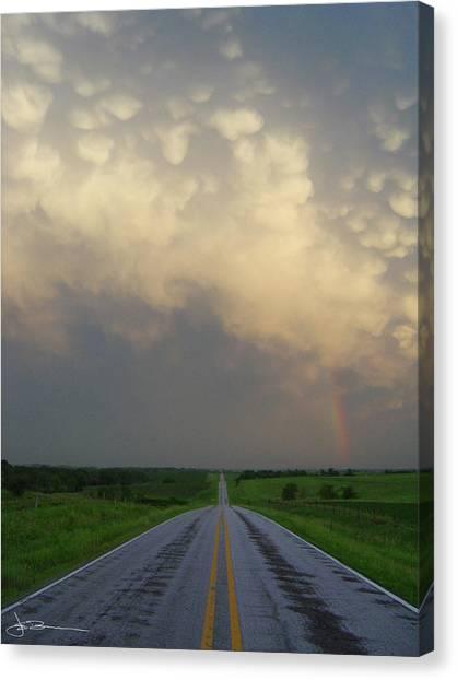 Horizon - Turn Right Canvas Print
