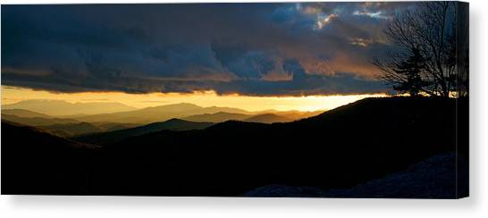 Moses Cone Canvas Print - Horizon At Sunset by Matt Plyler
