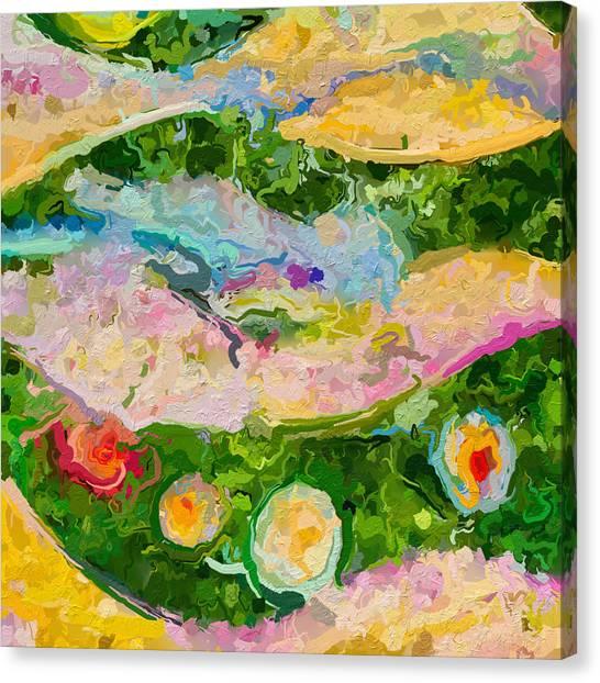 Canvas Print - Horizontal Green Color Study by Modern Art