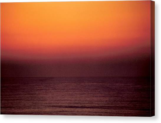 Horizontal Number 14 Canvas Print by Sandra Gottlieb