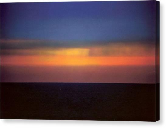 Horizontal Number 17 Canvas Print by Sandra Gottlieb
