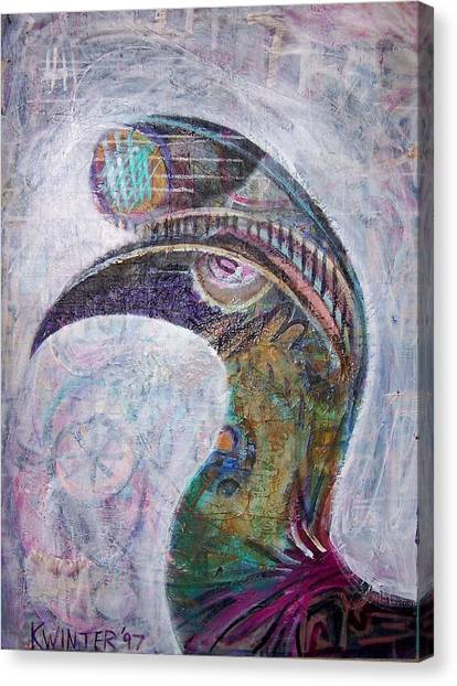 Hornbill Canvas Print by Dave Kwinter