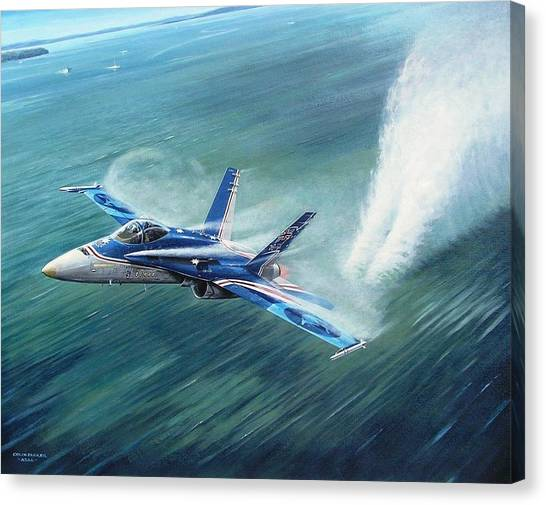 'hornet 20th Anniversary Over Myall Lake Nsw' Canvas Print