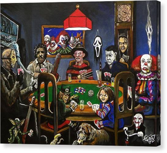 Horror Canvas Print - Horror Card Game by Tom Carlton
