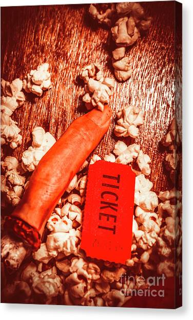 Popcorn Canvas Print - Horror Film Concept by Jorgo Photography - Wall Art Gallery