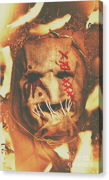 Crazy Canvas Print - Horror Scarecrow Portrait by Jorgo Photography - Wall Art Gallery