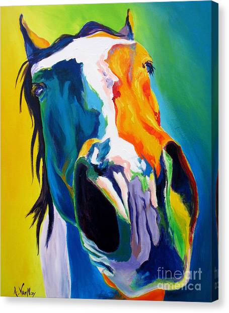 Horse - Up Close And Personal Canvas Print