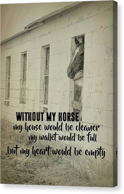 Horse And Heart Quote Canvas Print