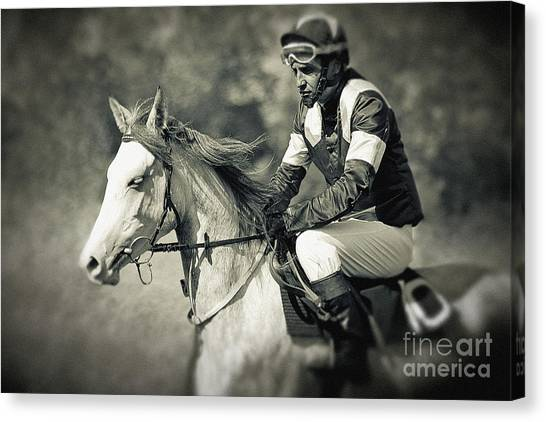 Horse And Jockey Canvas Print