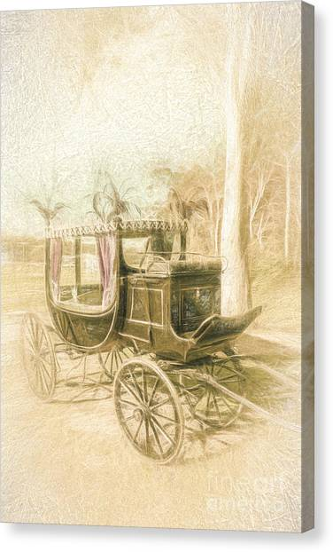 Undertaker Canvas Print - Horse Drawn Funeral Cart  by Jorgo Photography - Wall Art Gallery
