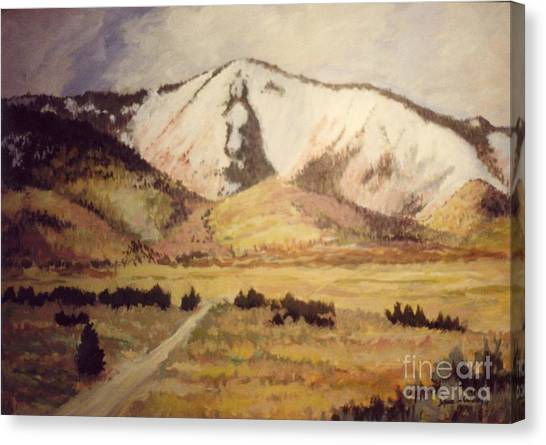 Horse Head Mountain Canvas Print by JoAnne Corpany