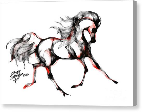 Horse In Extended Trot Canvas Print