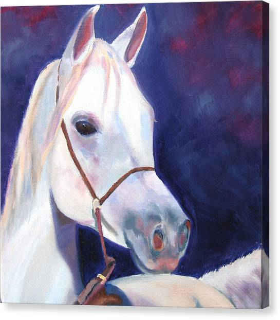 Horse Of A Different Color Canvas Print by Vicki Brevell